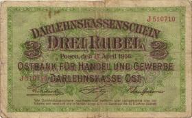R.460b: Besetzung Russland 3 Rubel 1916 (4)