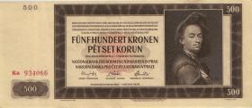 R.565d: Böhmen & Mähren 500 Kronen 1942 2.Auflage (2)