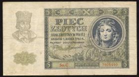 R.573: Generalgouv. Polen 5 Zlotych 1940 (3)