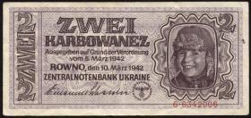 R.592: Besetzung Ukraine 2 Karbowanez 1942 (3+) #6342006