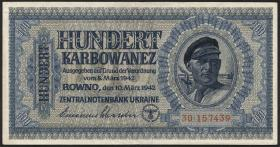 R.597a: Besetzung Ukraine 100 Karbowanez 1942 (4)