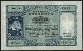 R.614: Laibach 500 Lire 1944 (3)