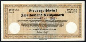 R.720j Steuergutschein 2000 Reichsmark 1939 (März 1940) (1-)