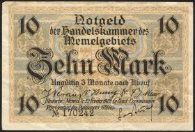 R.850a: Memelgebiet 10 Mark 1922 (3)