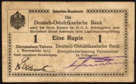 R.916t: Deutsch-Ostafrika 1 Rupie 1915 D2 (3+)
