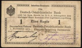 R.916u: Deutsch-Ostafrika 1 Rupie 1915 E2 (2)