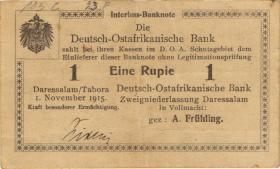 R.932c: Deutsch-Ostafrika 1 Rupie 1915 mit Überdruck Z (2)