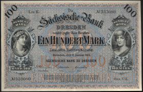 R-SAX 08a: 100 Mark 1911 (2+)