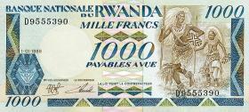Ruanda / Rwanda P.21 1000 Francs 1988 (1)
