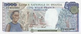Ruanda / Rwanda P.22 5000 Francs 1988 (1)