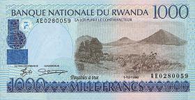 Ruanda / Rwanda P.27 1000 Francs 1998 (1)