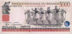 Ruanda / Rwanda P.28 5000 Francs 1998 (1)