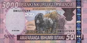 Ruanda / Rwanda P.37 5000 Francs 2008 (1)
