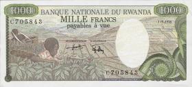 Ruanda / Rwanda P.14 1000 Francs 1978 (1/1-)