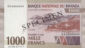 Ruanda / Rwanda P.24s 1000 Francs 1994 Specimen (1)