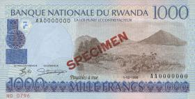 Ruanda / Rwanda P.27s 1000 Francs 1998 Specimen (1)