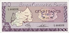 Ruanda / Rwanda P.08a 100 Francs 1966 (1)