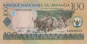 Ruanda / Rwanda P.29a 100 Francs 2003 (1)