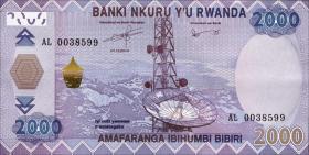 Ruanda / Rwanda P.40 2000 Francs 2014 (1)
