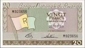 Ruanda / Rwanda P.06a 20 Francs 1966 (1)