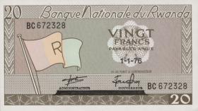 Ruanda / Rwanda P.06e 20 Francs 1976 (1)
