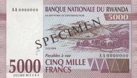 Ruanda / Rwanda P.25s 5000 Francs 1994 Specimen (1)