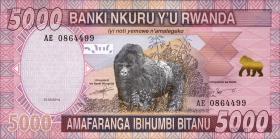 Ruanda / Rwanda P.41 5000 Francs 2014 (1)