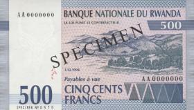 Ruanda / Rwanda P.23s 500 Francs 1994 Specimen (1)
