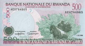 Ruanda / Rwanda P.26 500 Francs 1998 (1)