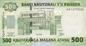Ruanda / Rwanda P.30 500 Francs 2004 (1)