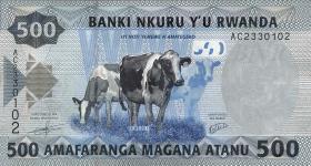 Ruanda / Rwanda P.38 500 Francs 2013 (1)