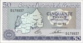 Ruanda / Rwanda P.07a 50 Francs 1966 (1)