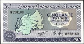 Ruanda / Rwanda P.07c 50 Francs 1976 (1)