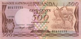 Ruanda / Rwanda P.16 500 Francs 1981 (1-)