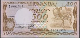 Ruanda / Rwanda P.16 500 Francs 1981 (1)