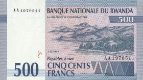 Ruanda / Rwanda P.23 500 Francs 1994 (1)