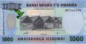 Ruanda / Rwanda P.39 1000 Dollars 2015 (1)