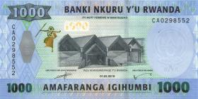 Ruanda / Rwanda P.43 1000 Francs 2019 (1)