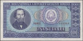 Rumänien / Romania P.097 100 Lei 1966 (2)