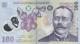 Rumänien / Romania P.121c 100 Lei (20)08 Polymer (1)