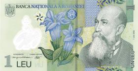 Rumänien / Romania P.117e 1 Leu (20)09 Polymer (1)