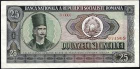 Rumänien / Romania P.095 25 Lei 1966 (1)