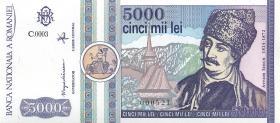 Rumänien / Romania P.103 5000 Lei 1992 (1)