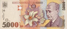 Rumänien / Romania P.107b 5000 Lei 1998 (1)