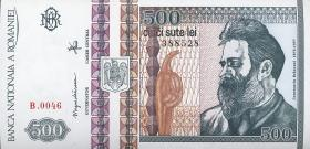 Rumänien / Romania P.101b 500 Lei 1992 (1)
