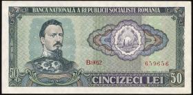 Rumänien / Romania P.096 50 Lei 1966 (2)