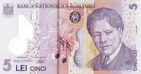 Rumänien / Romania P.118e 5 Lei (20)11 Polymer (1)