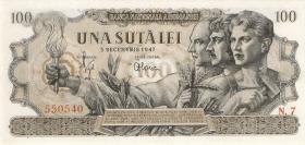 Rumänien / Romania P.067a 100 Bani 1947 (1)