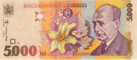 Rumänien / Romania P.107a 5000 Lei 1998 (1)