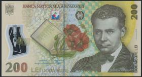 Rumänien / Romania P.122c 200 Lei (20)09 Polymer (1)